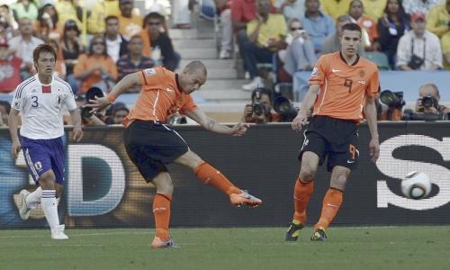ワールドカップ2010 南アフリカ大会グループE オランダ-日本 2010年6月19日 スナイデル
