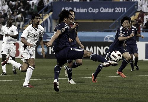 アジアカップ 準々決勝 カタール-日本 2011年1月21日 岡崎