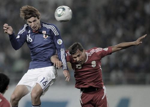ワールドカップ アジア3次予選 日本 VS タジキスタン 2011年10月11日 ハーフナー