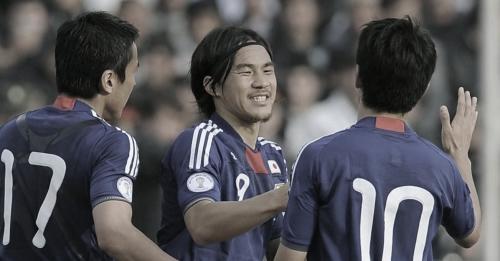 ワールドカップ2014アジア3次予選 タジキスタン-日本 岡崎