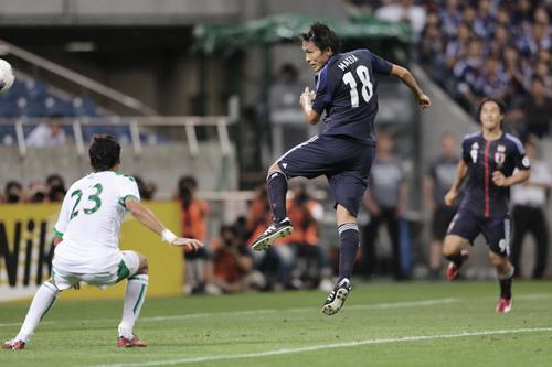 ワールドカップ2014アジア最終予選 日本-イラク 2012年9月11日 前田ヘッド