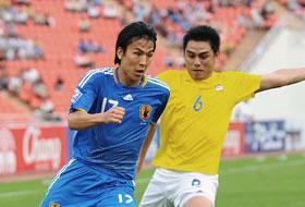 ワールドカップ2010予選 タイ-日本