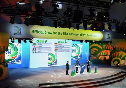 コンフェデ抽選会 日本代表はブラジル・イタリア・メキシコと同組